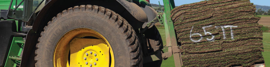 Turf on tractor